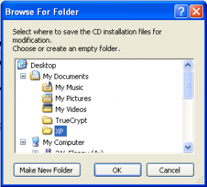 Browse For Folder Destination