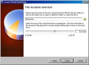 Slackware HD Size