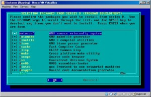 Slackware Selecting
