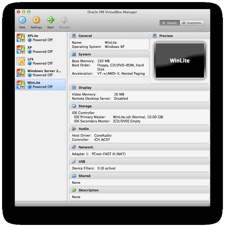 Installing Optimized XP in VirtualBox | Nodak Engineering
