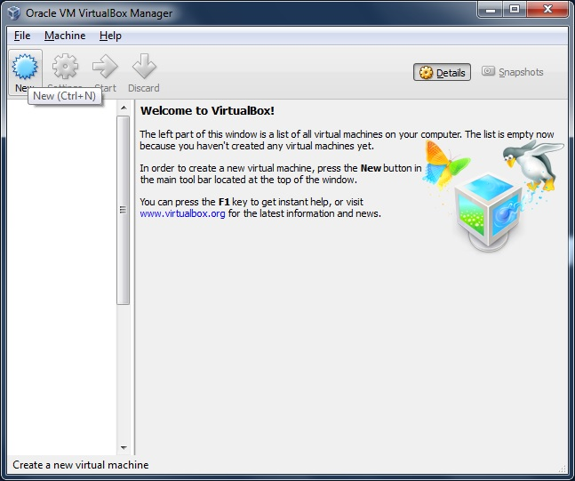 how to create new user id in virtual box